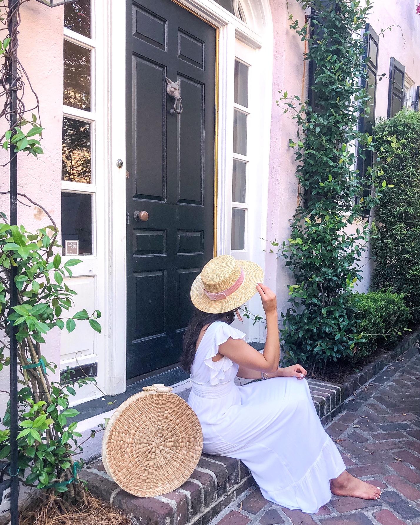 Charleston Fashion Blogger Rainbow Row
