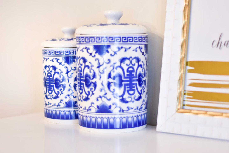 Ginger jars for bedroom