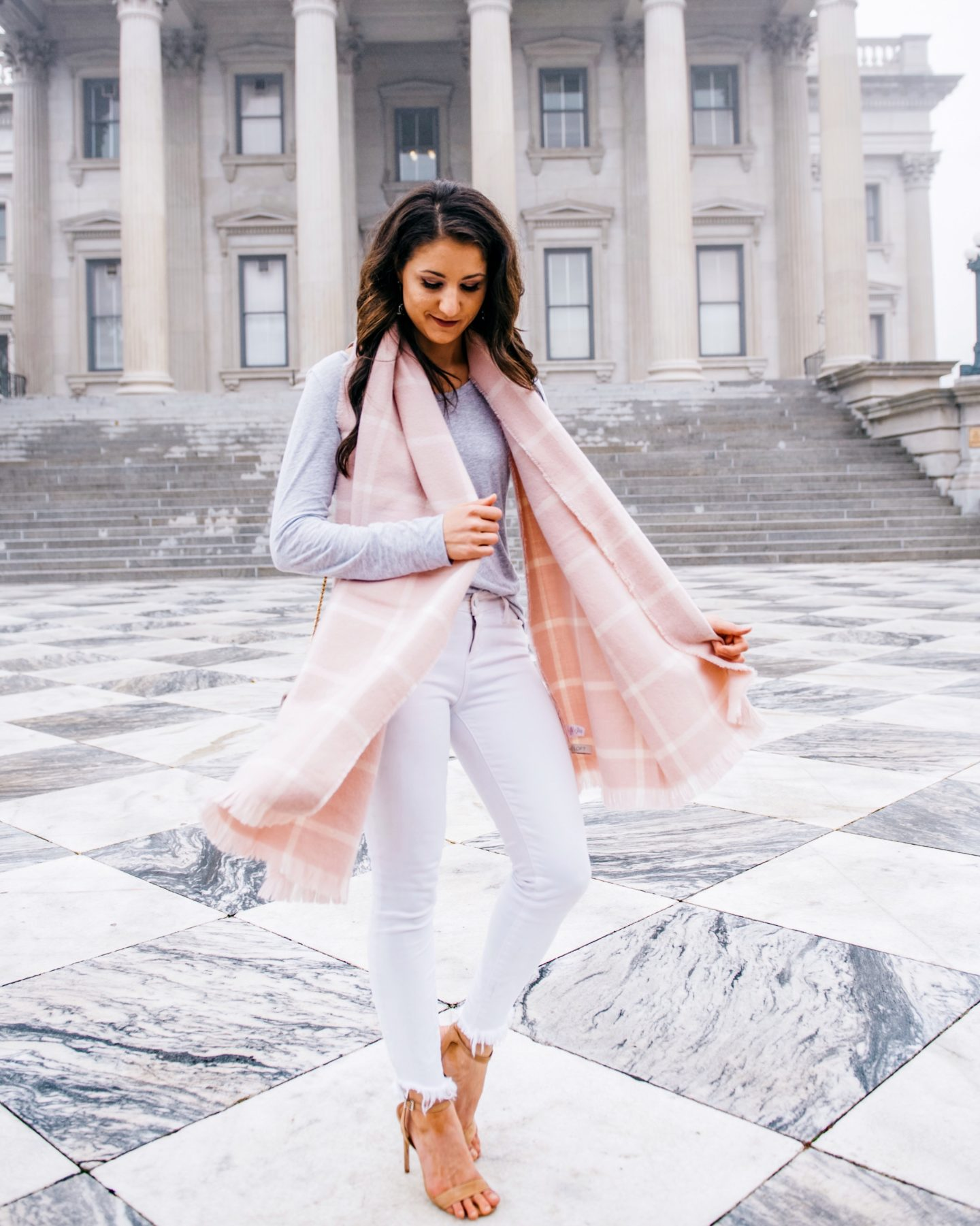 LOFT Pink Scarf Fifteen Minutes to Flawless