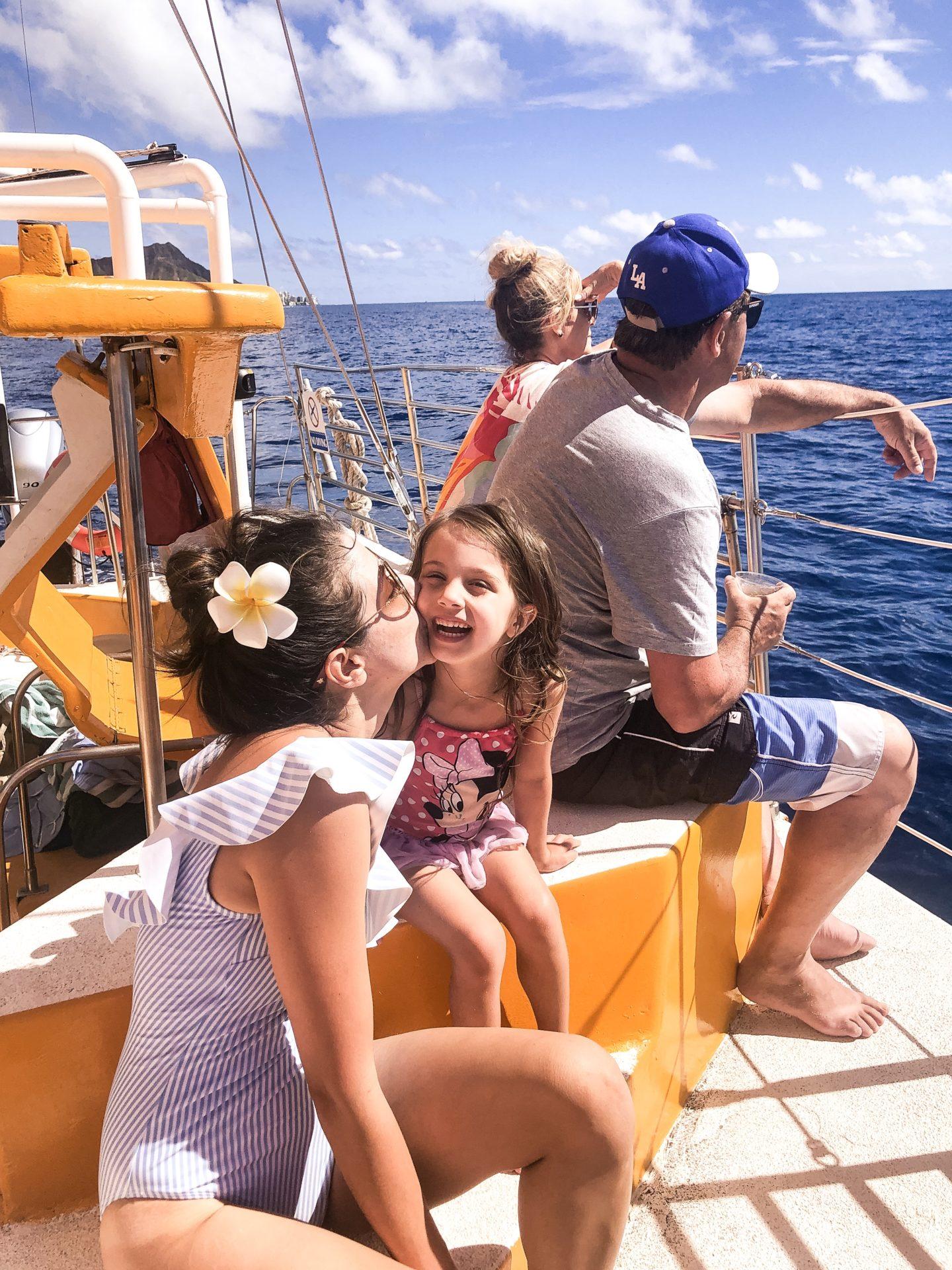 Catamaran Boat Tour Waikiki Beach- Kid Friendly Activities Oahu