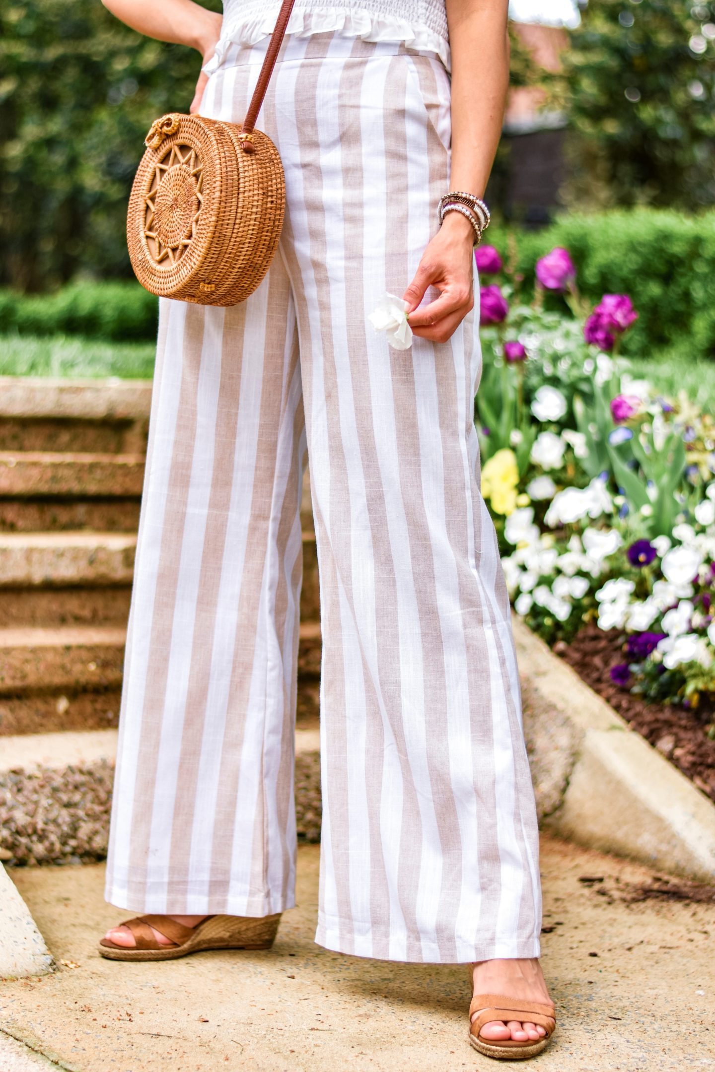 Superdown Top and Striped Linen Pants Terra Roisin Fifteen Minutes to Flawless