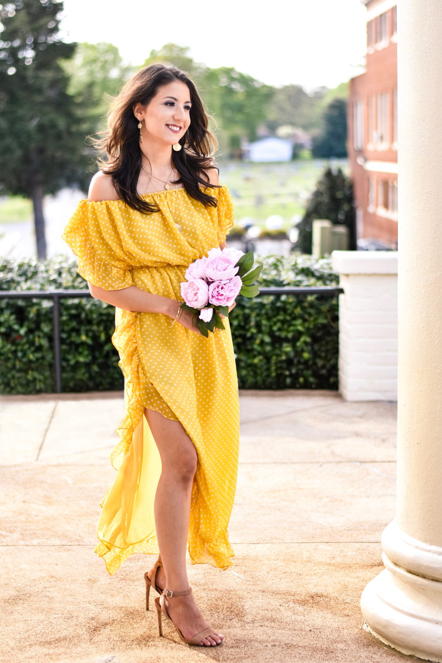Tularosa Yellow Polka Dot Dress Terra Roisin Fifteen Minutes to Flawless